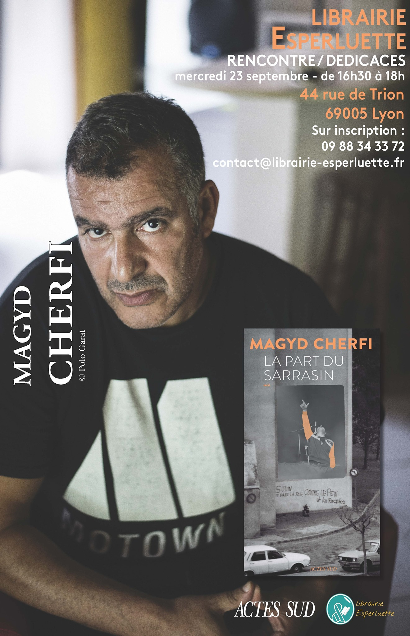 Read more about the article Mercredi 23 sept. 16h30 – 18h