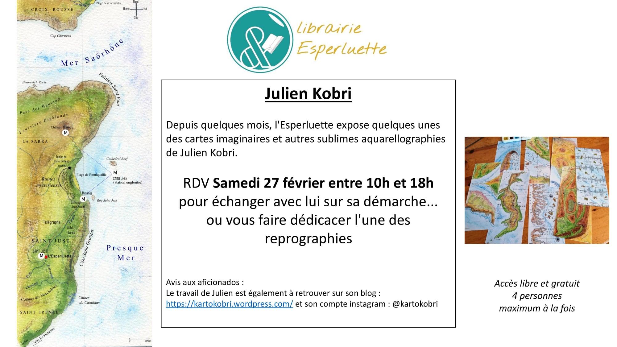Read more about the article RDV Samedi 27 février 2021 de 10h à 18h avec Julien Kobri
