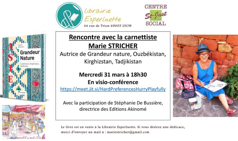 Visio-conférence avec Marie Stricher