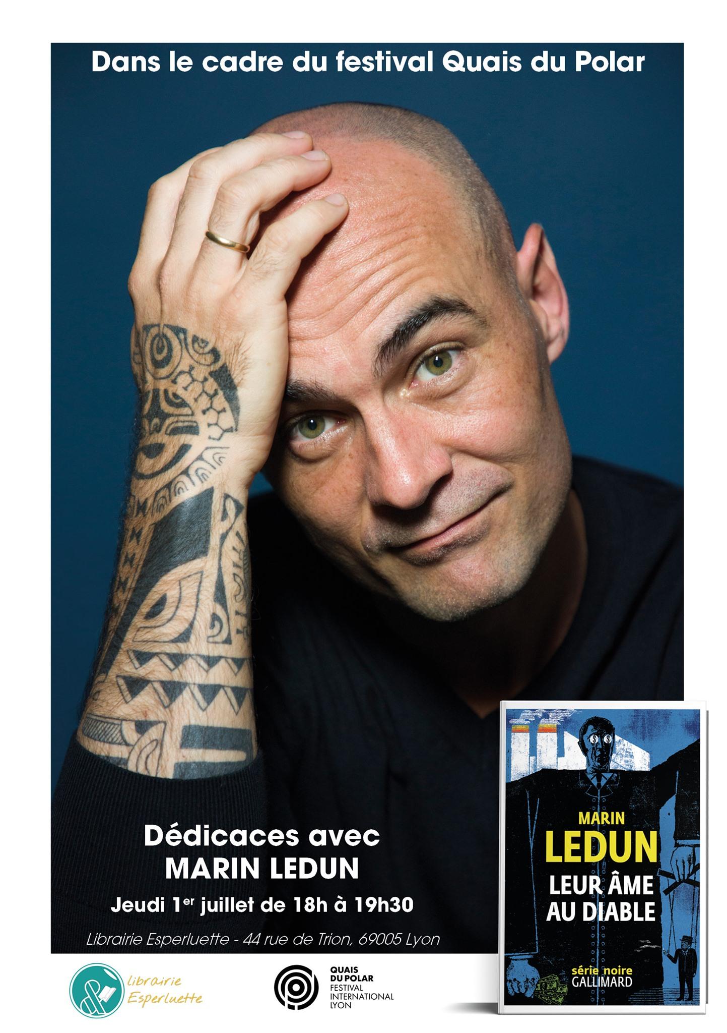 You are currently viewing Quais du Polar / Dédicaces avec Marin Ledun