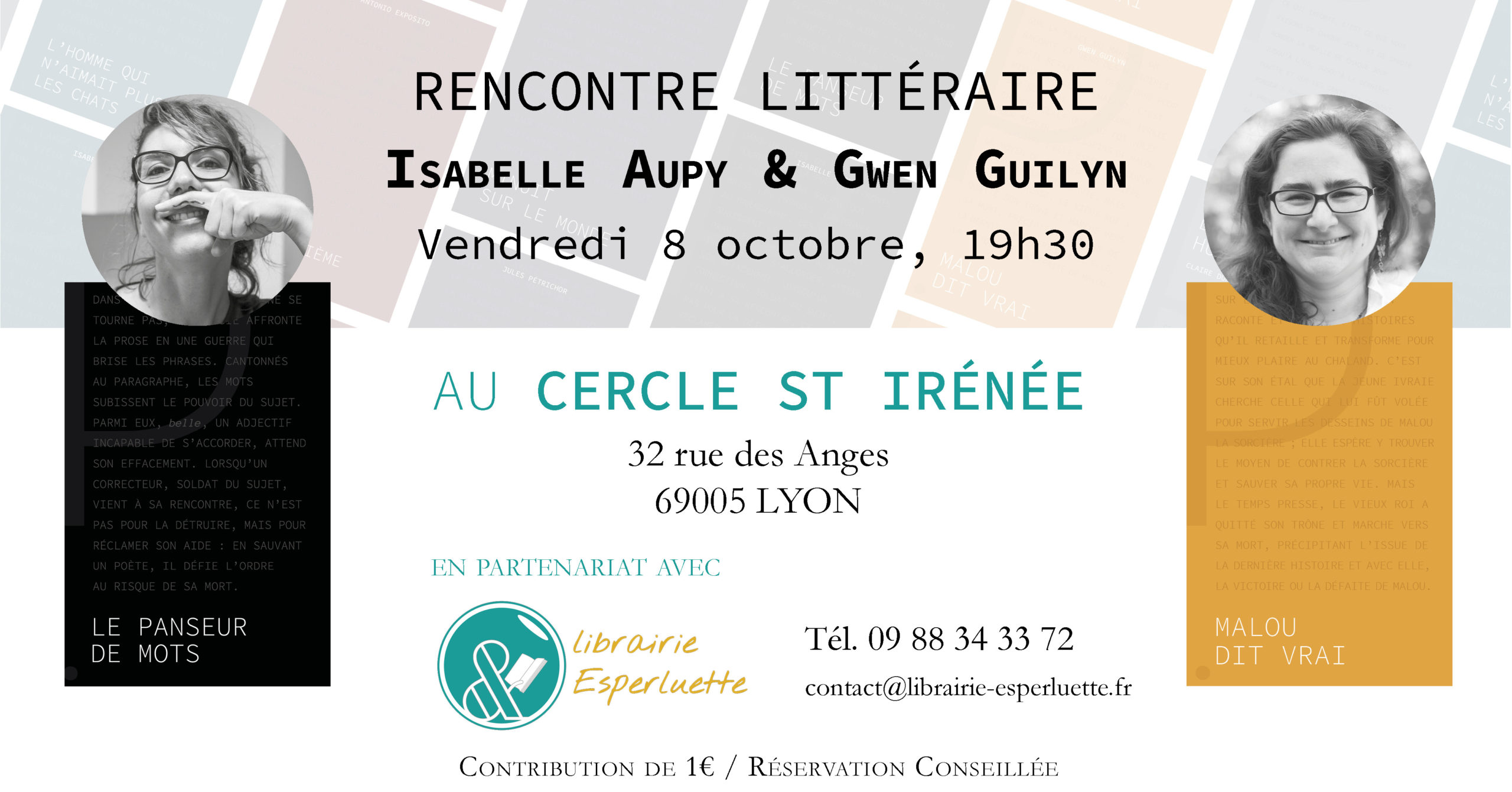 You are currently viewing Rencontre littéraire Isabelle Aupy & Gwen Guilyn
